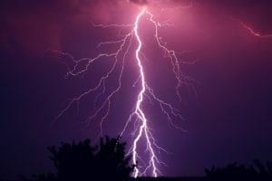 éclair orage